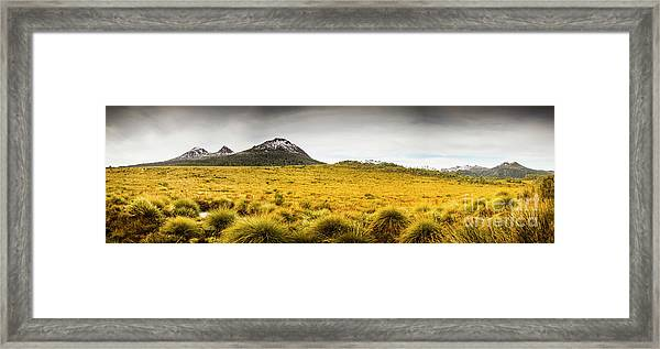 Tasmania Mountains Of The East-west Great Divide  Framed Print