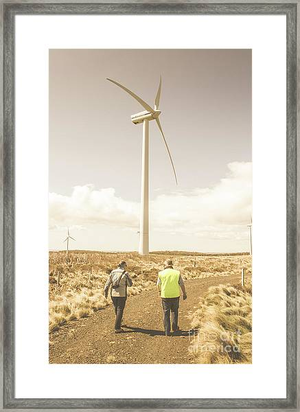 Tasmania Turbine Tours Framed Print