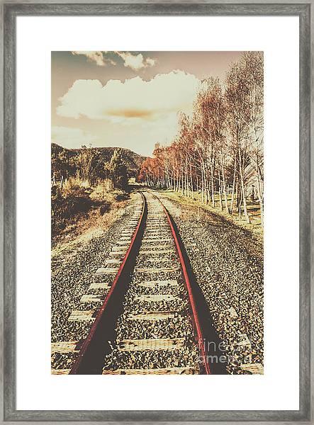 Tasmanian Country Tracks Framed Print