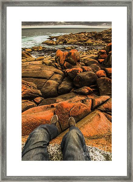 Tasmanian Tourist Kicking Back  Framed Print