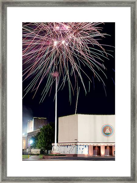 Taste Of Dallas 2015 Fireworks Framed Print