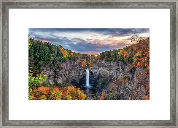 Taughannock Autumn Dusk Framed Print
