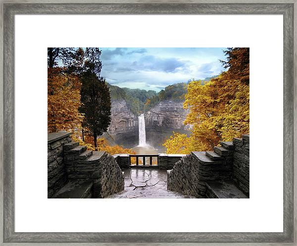 Taughannock In Autumn Framed Print