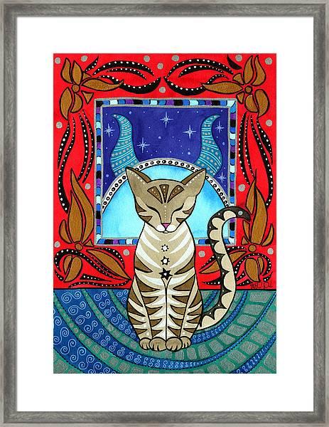 Taurus Cat Zodiac Framed Print