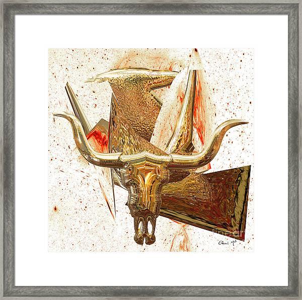Framed Print featuring the digital art Taurus by Eleni Mac Synodinos