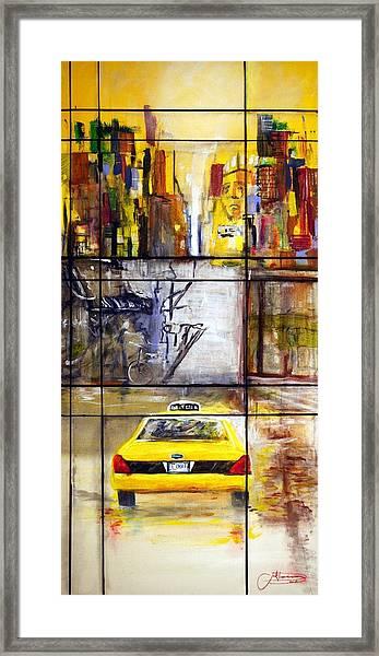 Taxi 7 Framed Print
