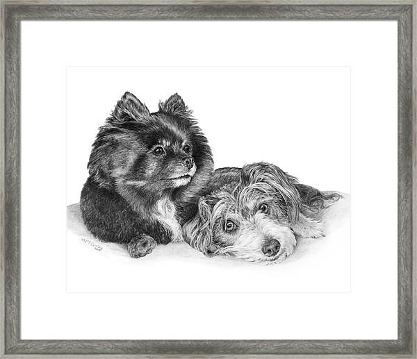 Tayssa And Angel Framed Print
