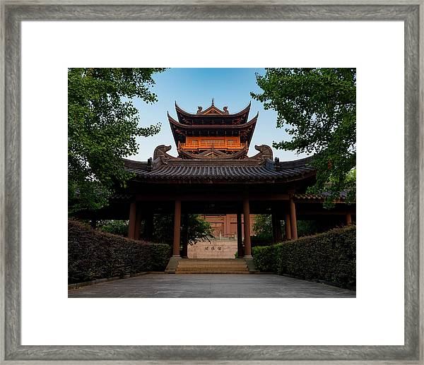 Framed Print featuring the photograph Tea House In The Morning I by William Dickman