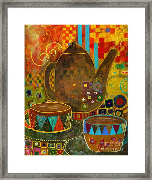 Tea Party With Klimt Framed Print