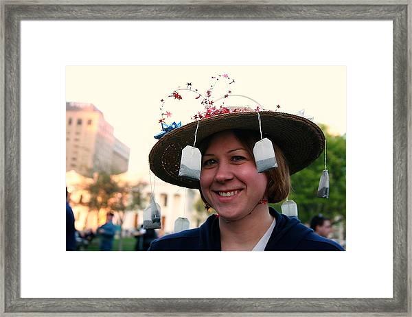 Tea Party Woman Framed Print