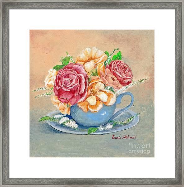 Tea Roses Framed Print
