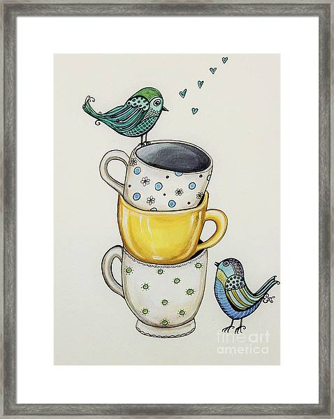 Tea Time Friends Framed Print