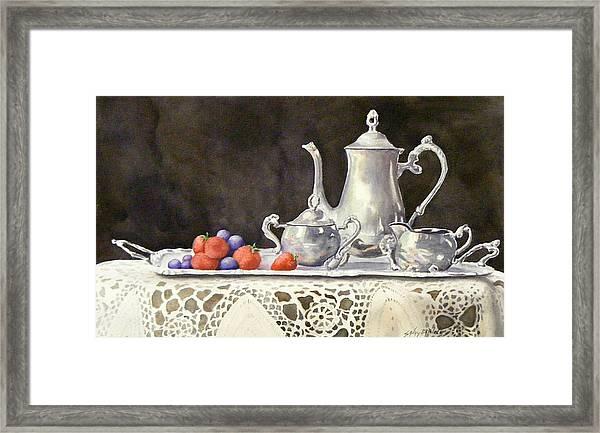 Tea Time  Original Framed Print