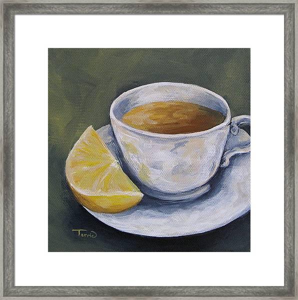 Tea With Lemon Framed Print