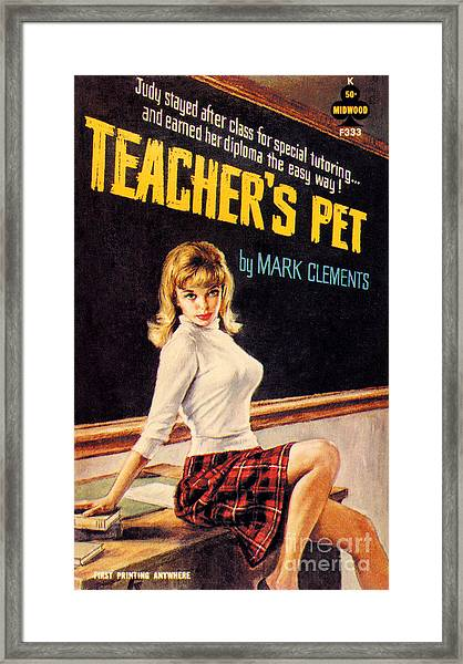 Teacher's Pet Framed Print