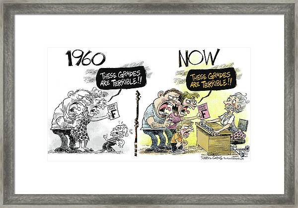 Teachers Then And Now Framed Print