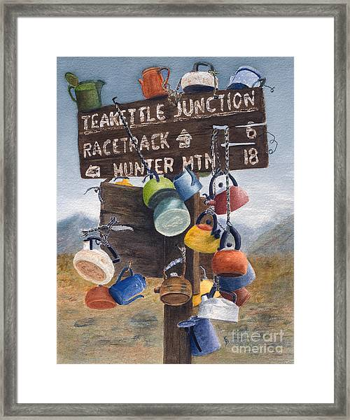 Teakettle Junction Framed Print
