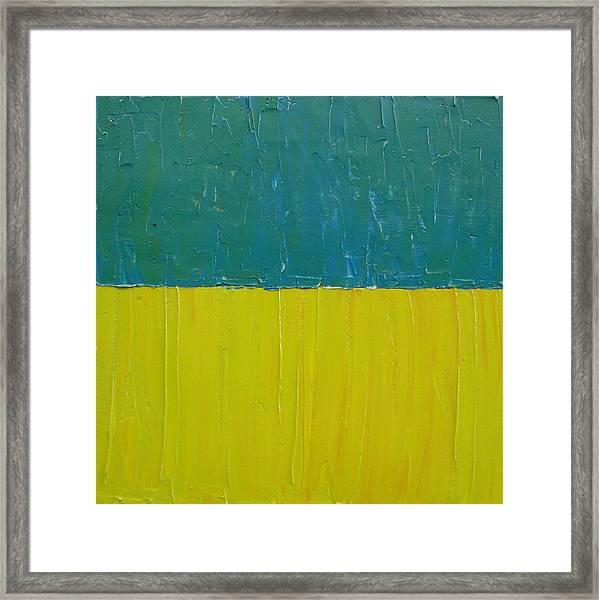 Teal Olive Framed Print