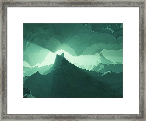 Teal Surreal Framed Print