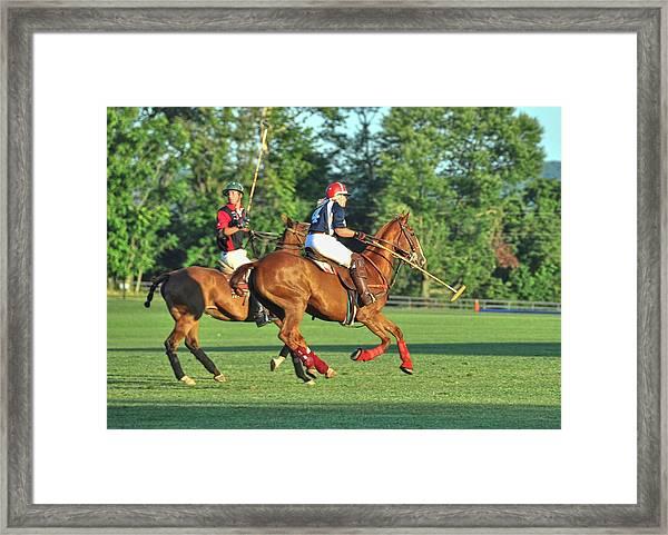 Team Polo Race Framed Print
