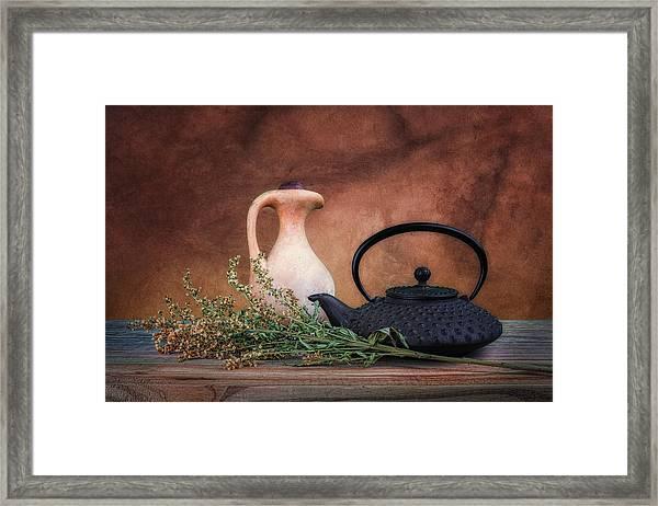Teapot With Pitcher Still Life Framed Print