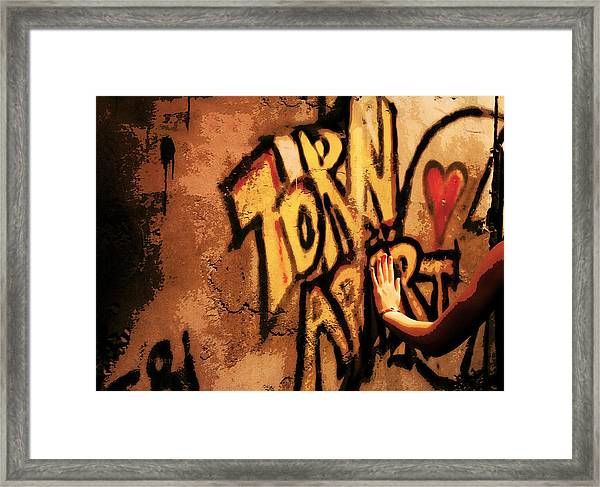 Tear This Wall Down Framed Print