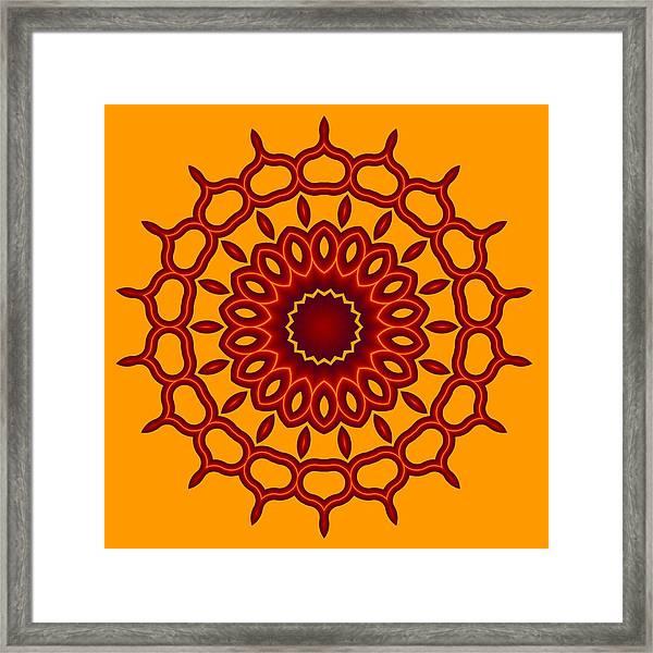 Teardrop Fractal Mandala Framed Print