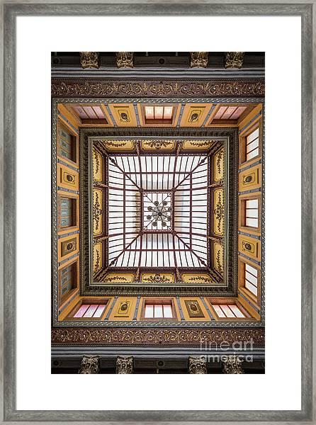 Teatro Juarez Skylight Framed Print