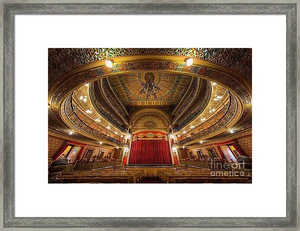 Teatro Juarez Stage Framed Print