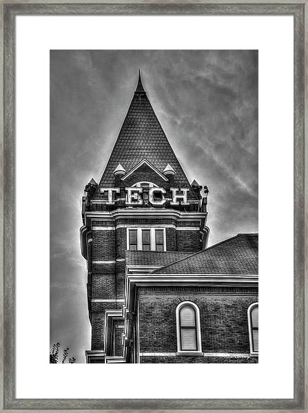 Tech B W Georgia Institute Of Technology Atlanta Georgia Art Framed Print