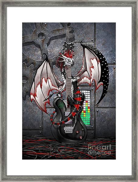 Tech-n-dustrial Music Dragon Framed Print