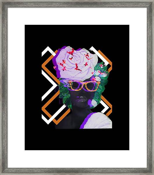 Techno Mieya Framed Print