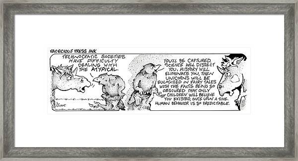 Technocratic Societies Fpi Cartoon Framed Print
