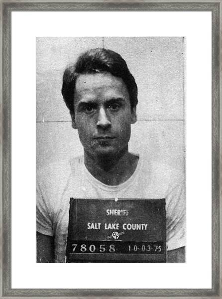 Ted Bundy Mug Shot 1975 Vertical  Framed Print