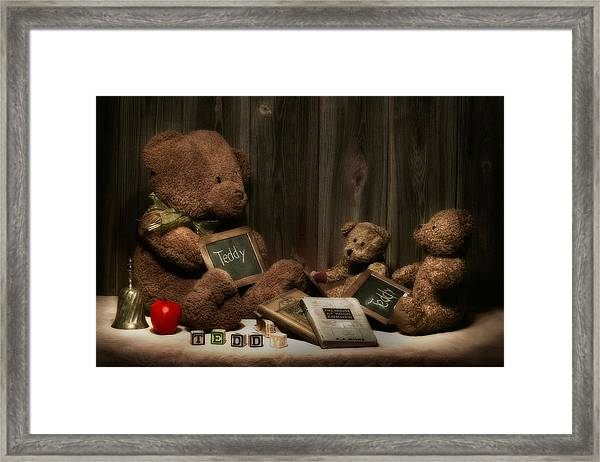 Teddy Bear School Framed Print