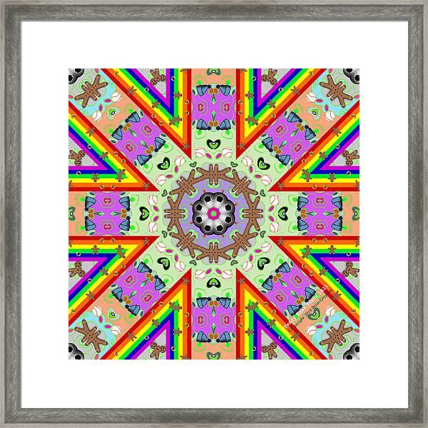 Framed Print featuring the digital art Teddy Bear Tears 1411k8 by Brian Gryphon