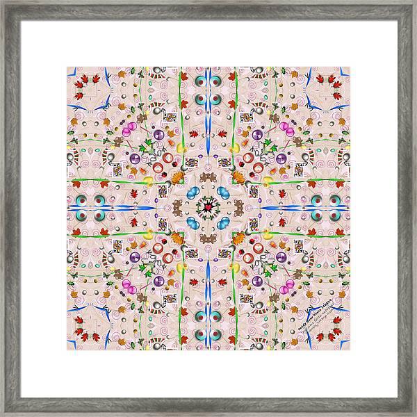 Framed Print featuring the digital art Teddy Bear Tears 1488k4 by Brian Gryphon