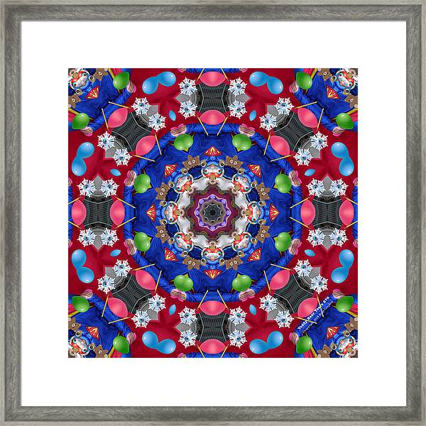 Framed Print featuring the digital art Teddy Bear Tears 276k8 by Brian Gryphon