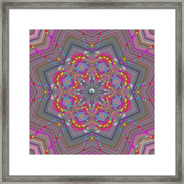 Framed Print featuring the digital art Teddy Bear Tears 409k8 by Brian Gryphon
