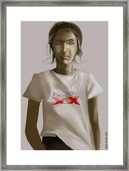 Tee Shirt Portrait Framed Print