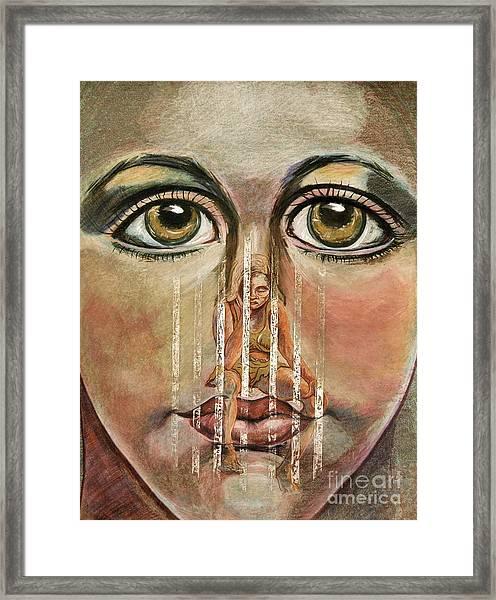 Teen Depression Framed Print