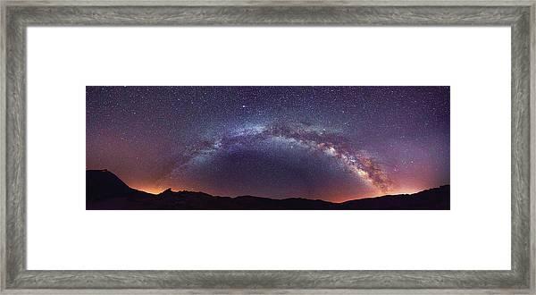Teide Milky Way Framed Print