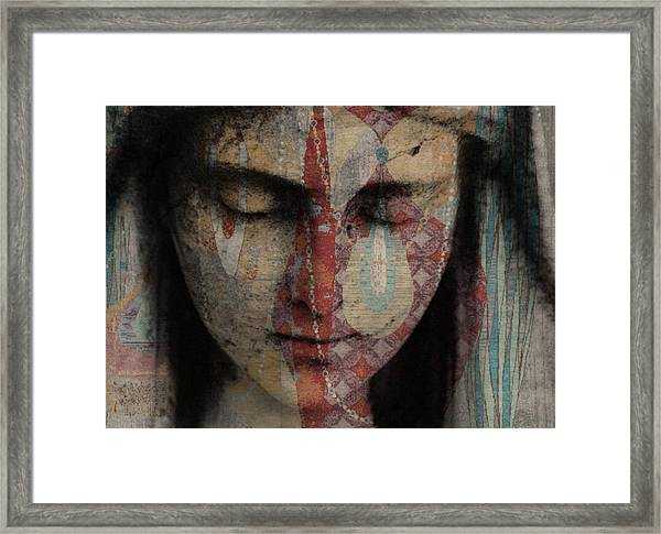 Tell Me There's A Heaven Framed Print