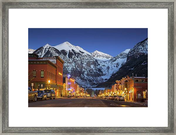 Telluride Main Street 3 Framed Print