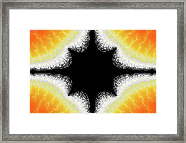 Fractal 7 Center 2x3 Framed Print