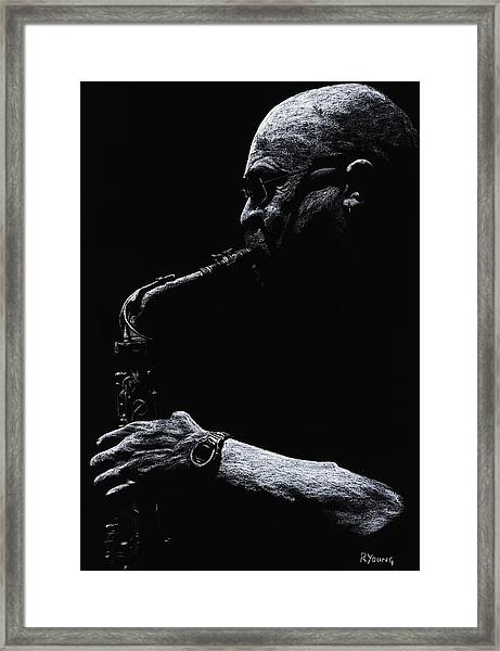 Temperate Sax Framed Print