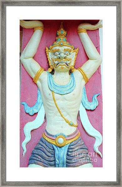 Temple Art In Thailand Framed Print