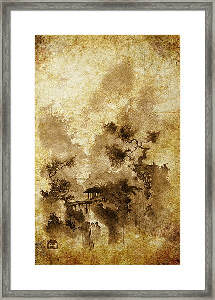Temple Bridge -altered Framed Print