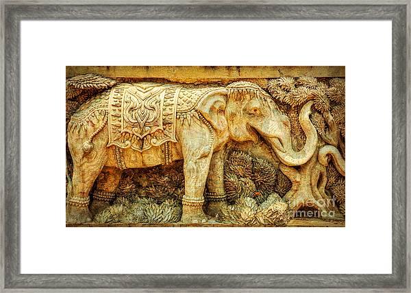 Temple Elephant Framed Print