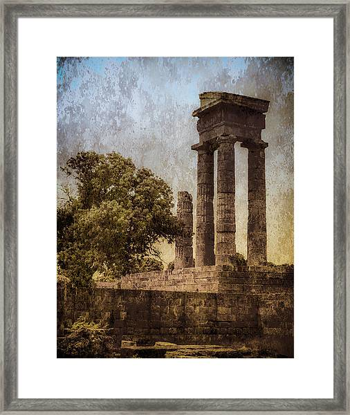 Framed Print featuring the photograph Rhodes, Greece - Temple Of Apollo by Mark Forte